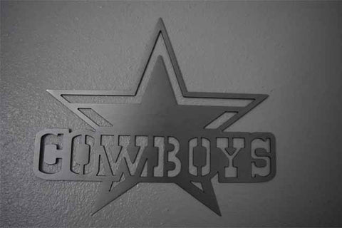 Dallas Cowboys Metal Football Art / Football Art