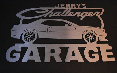 Dodge Challenger Hellcat Metal Garage Sign / ANY Name On Top / 3rd Generation