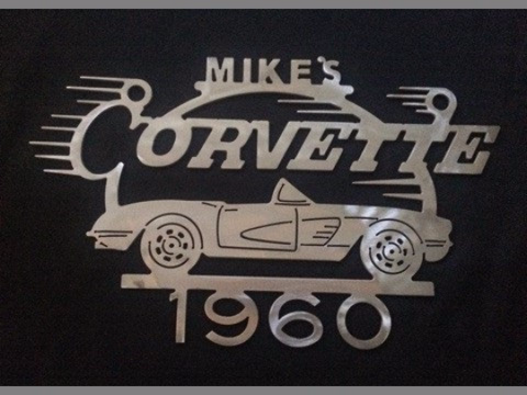 Corvette 1960 metal sign Metal Garage sign Personalized shop sign Chevrolet art