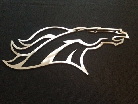 Denver Broncos Metal Art / Football Art