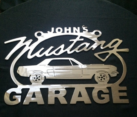 Mustang Metal Sign - 1st Generation 64 65 66 67 68 69 70 71 72 73