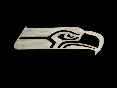 Seattle Seahawk Metal Football Art