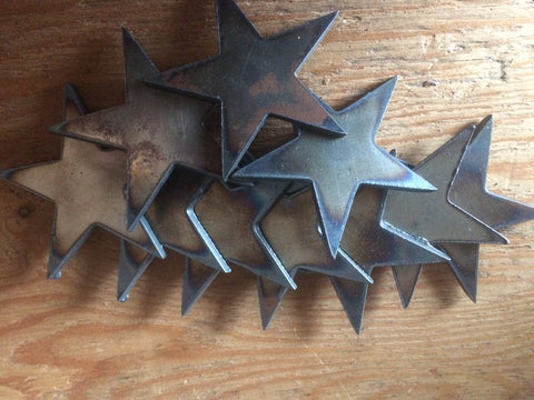 Stars Metal 1 inch tall Lot Set of 50 / Rusty Vintage Antique style / Metal Steel Wall Art Ornament