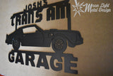 Pontiac Firebird Trans Am Personalized Custom Garage sign 77 78