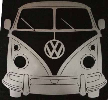 Volkswagen Bus Metal Garage sign Personalized and Custom