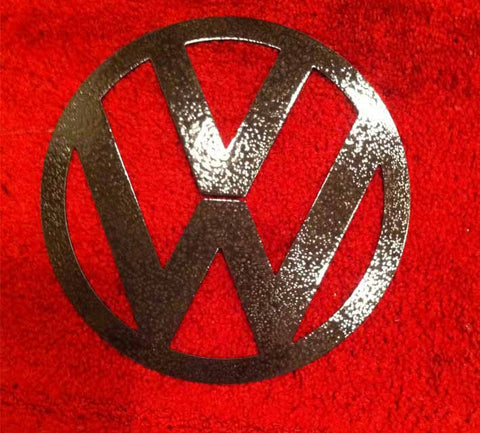 "Volkswagen Round Metal Logo Art 6"". 8"" 10"" 12"" / VW Metal art"