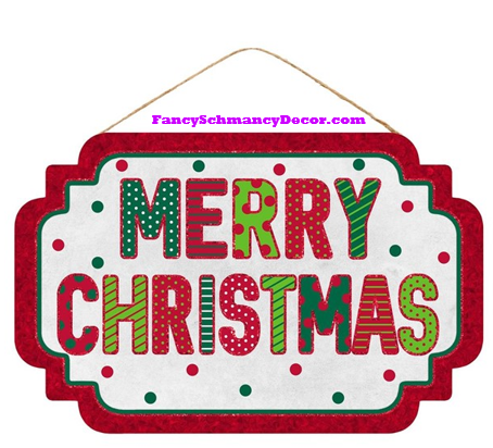 "12.5 ""L X 8"" H Merry Christmas Sign"
