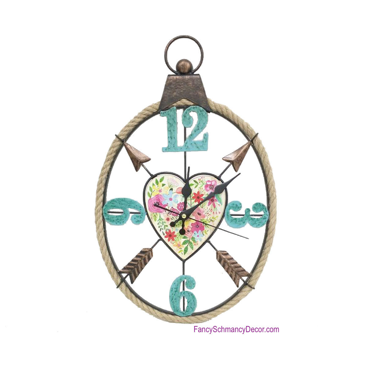Heart and Arrow Wall Clock