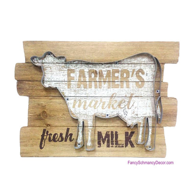 Cookie Cutter Cow on Wood Sign