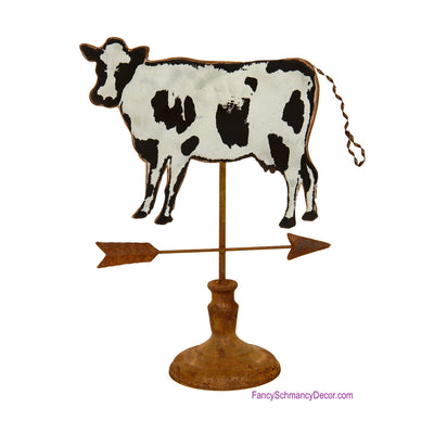 Cow Weather Vane on Pedestal