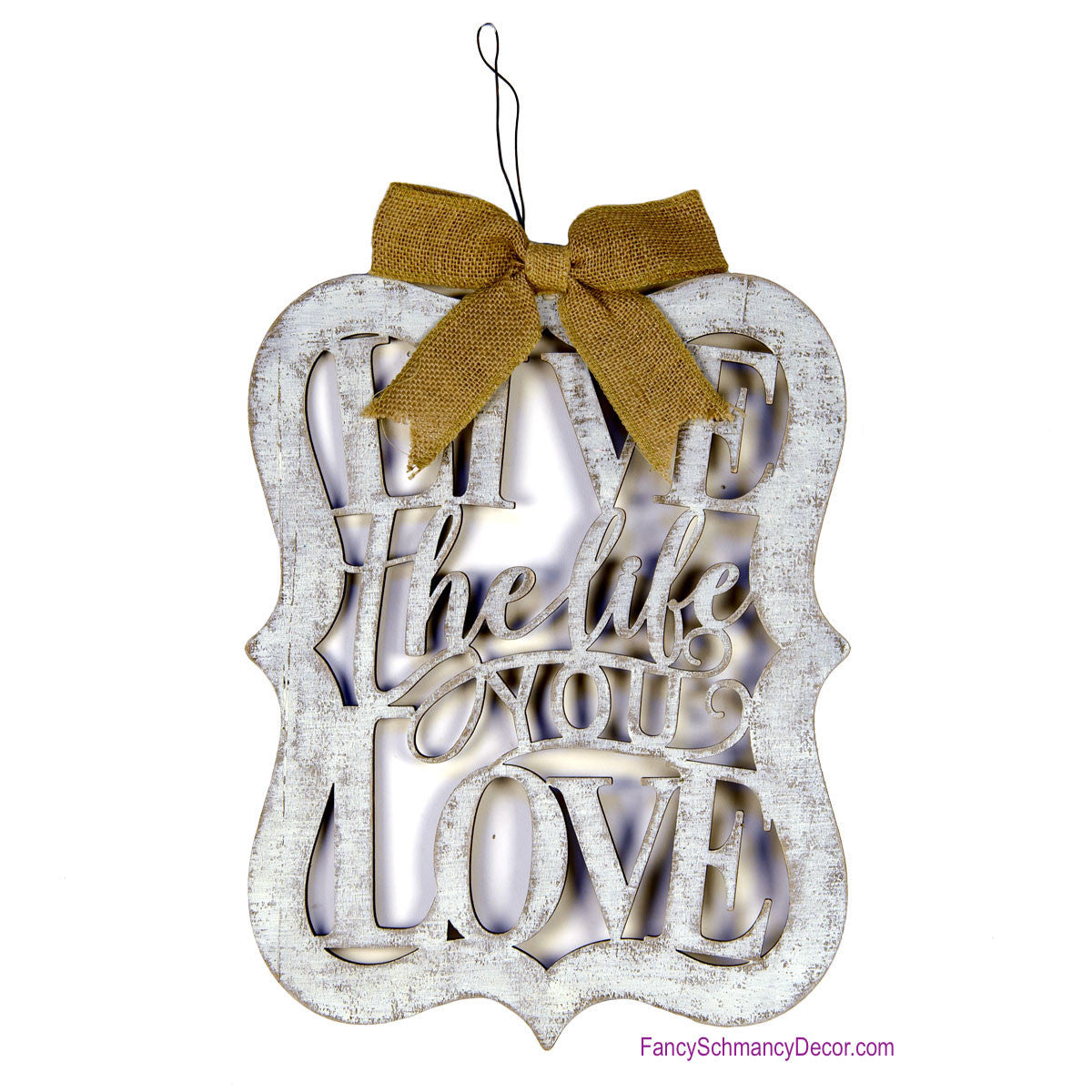 """Live the Life You Love"" Hanger"