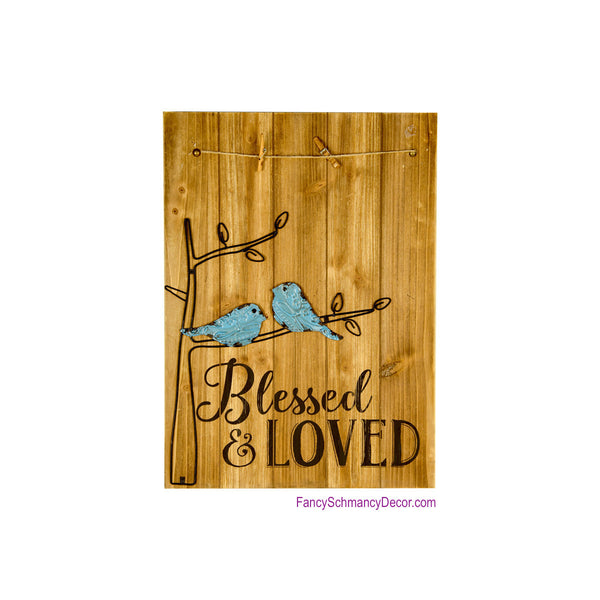 Blessed and Loved Photo Hanger
