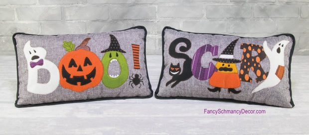 "Halloween Pillow ""BOO"" or ""SCARY"""