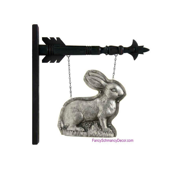 Polyresin Silver Standing Rabbit Arrow Replacement by K&K Interiors