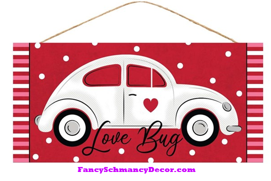 "12.5""L X 6""H Love Bug/Car Sign"