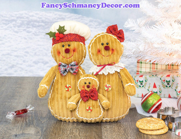 Sugarplum Gingerbread Family Tabletop