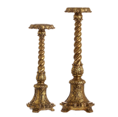 "Home Decor - Candleholder Antique 20.5"" RAZ Imports - FancySchmancyDecor"