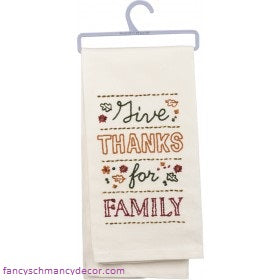 Dish Towel Give Thanks