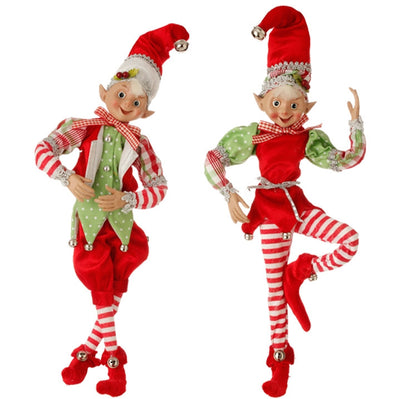 "16"" Posable Elf Ornament by RAZ Imports - FancySchmancyDecor"