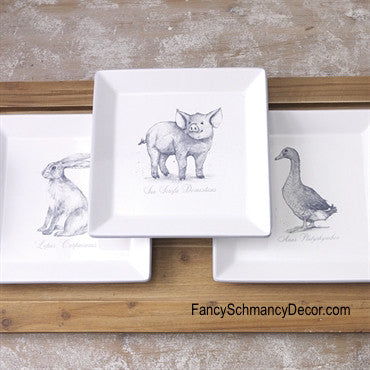 Rabbit or Duck Plate by Raz Imports