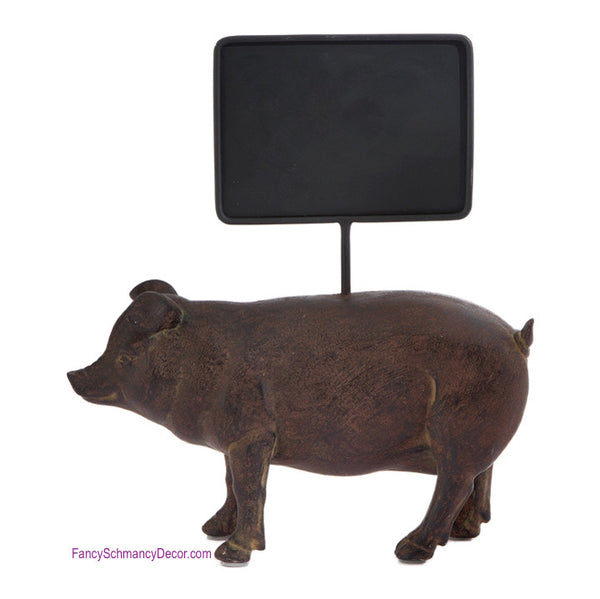 Pig with Chalkboard Sign by Raz Imports