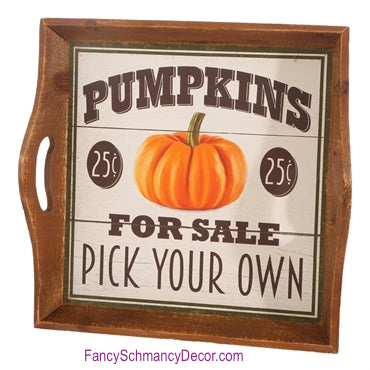 Pumpkin For Sale Tray by Raz Imports