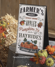 Farmers Market Sign Ivory by Raz Imports