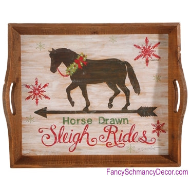Horse Sleigh Ride Tray by Raz Imports