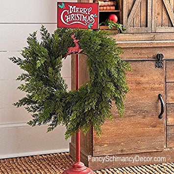 Merry Christmas Vintage Style Adjustable Reindeer Wreath Stand