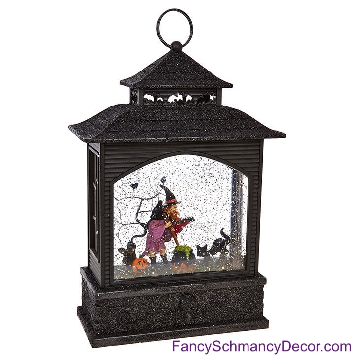 "11"" Witch Lighted Water Lantern by Raz Imports"