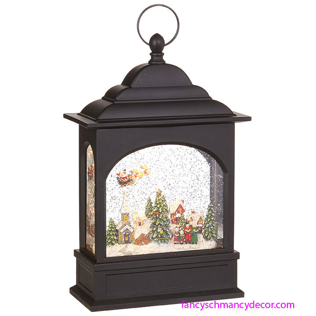 Flying Santa Lighted Water Lantern by RAZ Imports