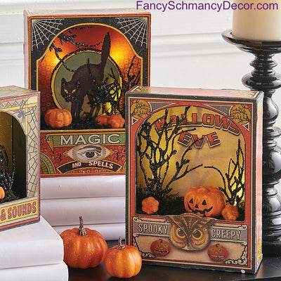 "8"" Halloween Lighted Shadowbox by Raz Imports"