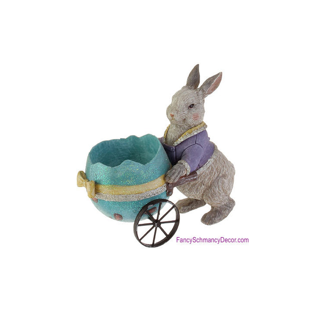 Rabbit with Egg Cart by RAZ Imports
