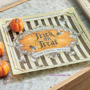 "10"" Trick or Treat Plate by Raz Imports"