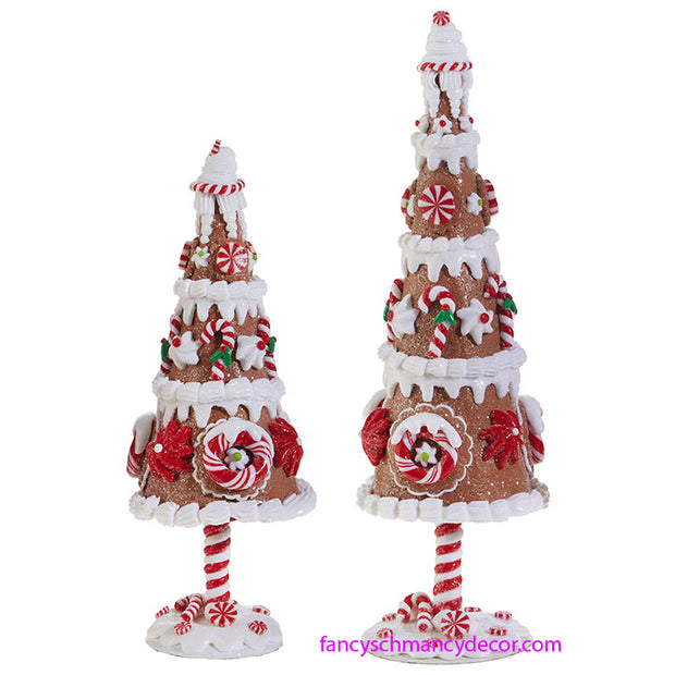 Set of 2 Gingerbread Trees by RAZ Imports