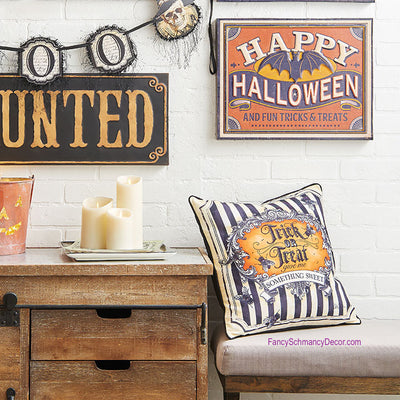 "17"" Trick or Treat Pillow by Raz Imports"