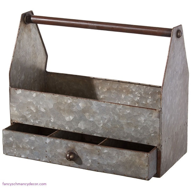 Farmhouse Tool Box With Drawer by Raz Imports