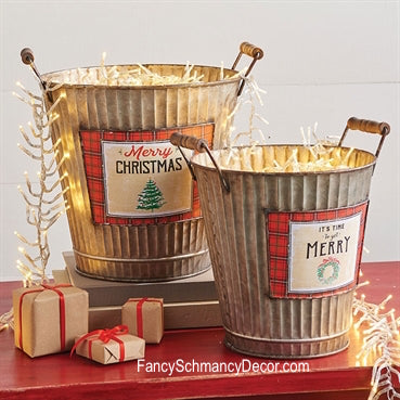 Christmas Bucket by Raz Imports