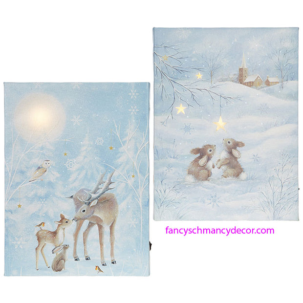 Forest Animals Lighted Print by RAZ Imports