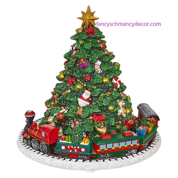 "6.25"" Animated Musical Tree with Train by RAZ Imports"