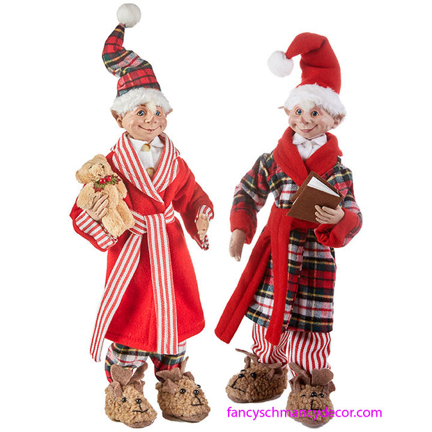 Not a Creature was Stirring Set of 2 Posable Elves by RAZ Imports