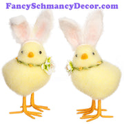 "7.5"" Chick with Bunny Ears by RAZ Imports"