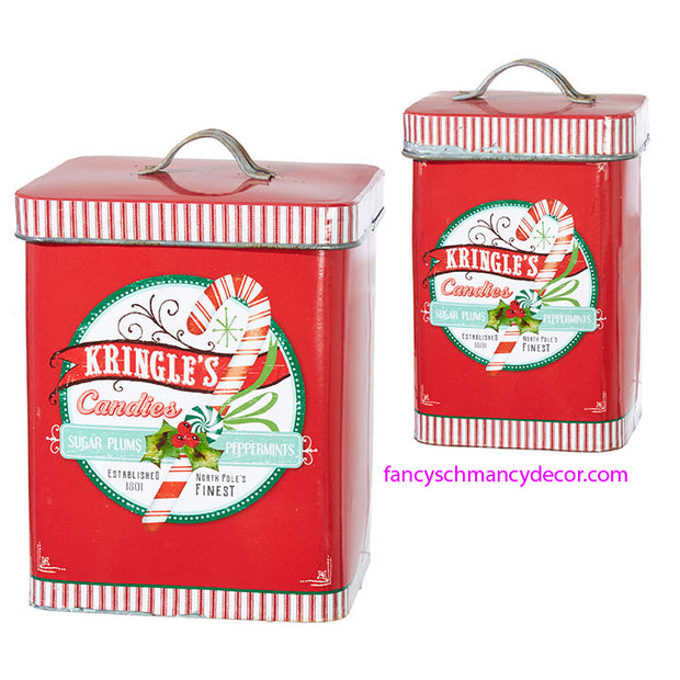 Kringle's Candies Container by RAZ Imports