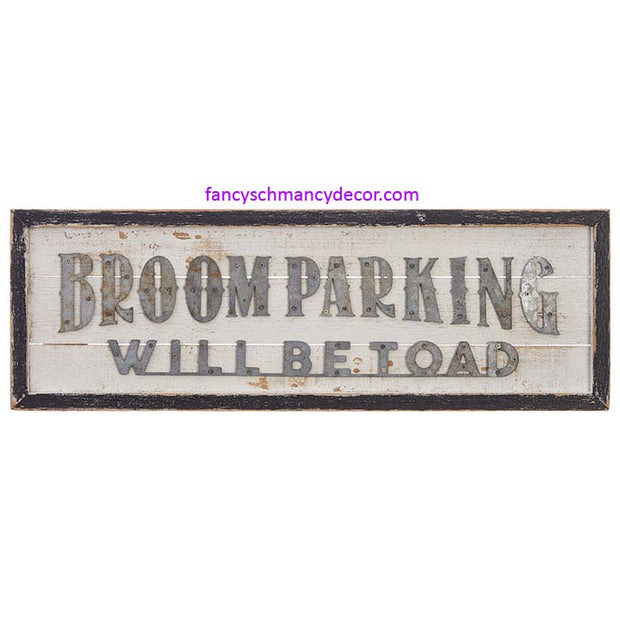 Broom Parking Framed Wall Art by RAZ Imports