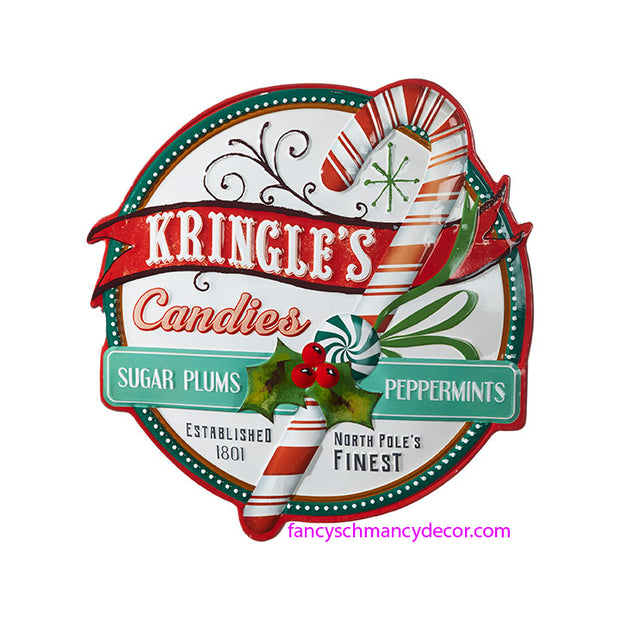 Kringle's Candies Sign by RAZ Imports
