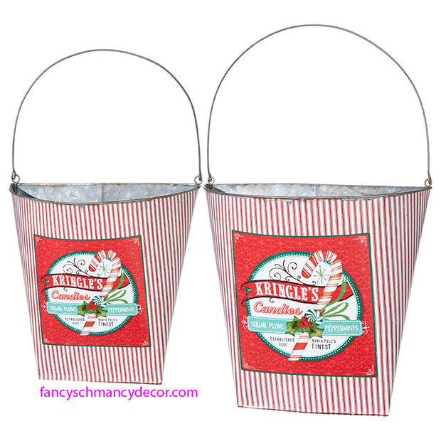 Kringle's Candies Wall Bucket by RAZ Imports