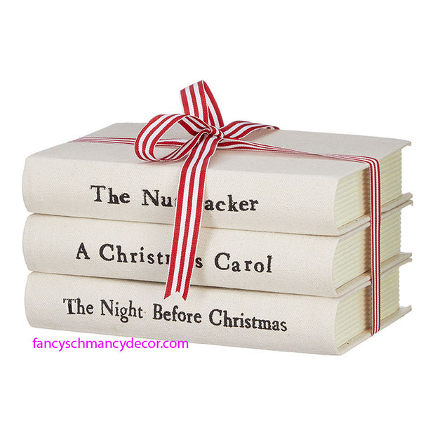 Christmas Stacked Books by RAZ Imports