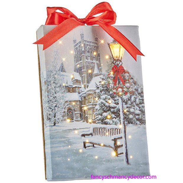 Church Lighted Print Ornament by RAZ Imports