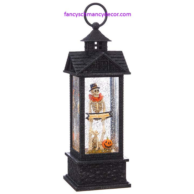Skeleton with Dog Lighted Water Lantern by RAZ Imports