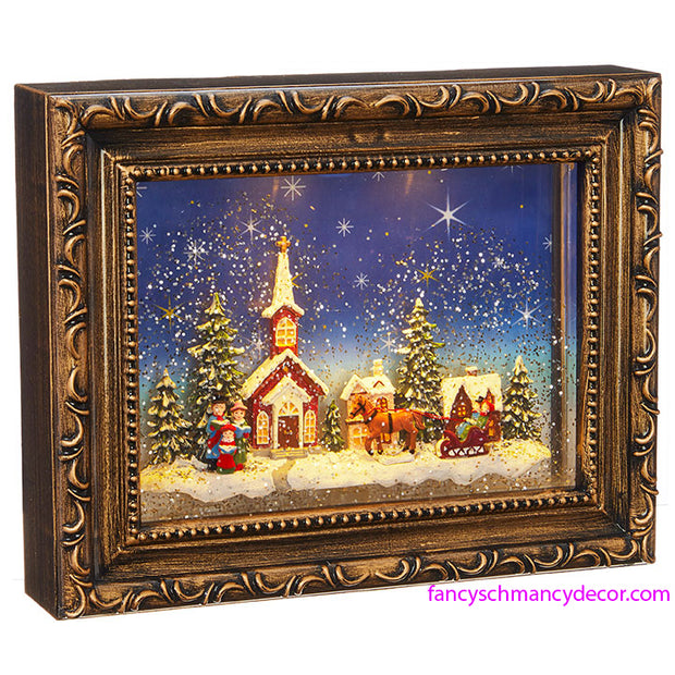 Town Scene Lighted Water Picture Frame by RAZ Imports